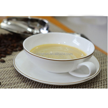 Bone China Gold Rim Wide Mouth Coffee Cups Product On