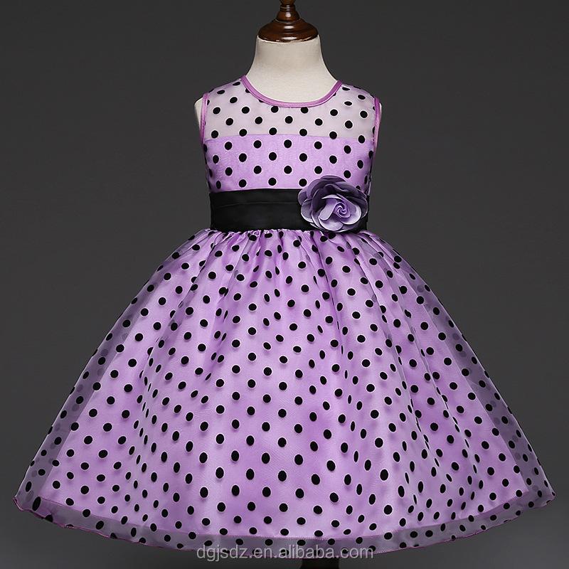 Bebé frock diseño fotos bebés de lujo dot vestido niñas vestidos de ...