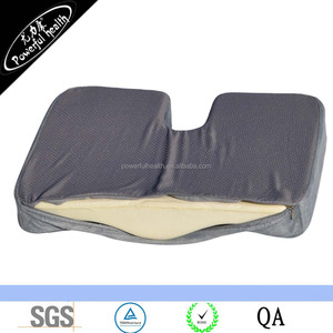 100% Pure Memory Foam Luxury Seat Cushion Orthopedic Design to Relieve Back Sciatica and Tailbone Pain, Slip-Proof Grip