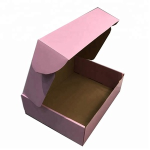 Pink color clothing mailing packaging kraft paper box