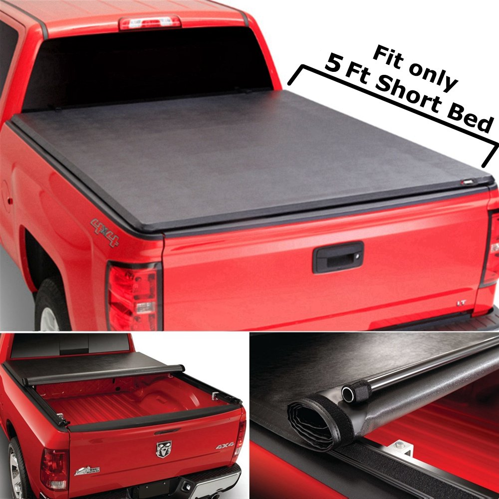 a99e4adf6fe Get Quotations · Super Drive RT040 Roll   Lock Soft Tonneau Truck Bed Cover  For 2005-2014 Toyota