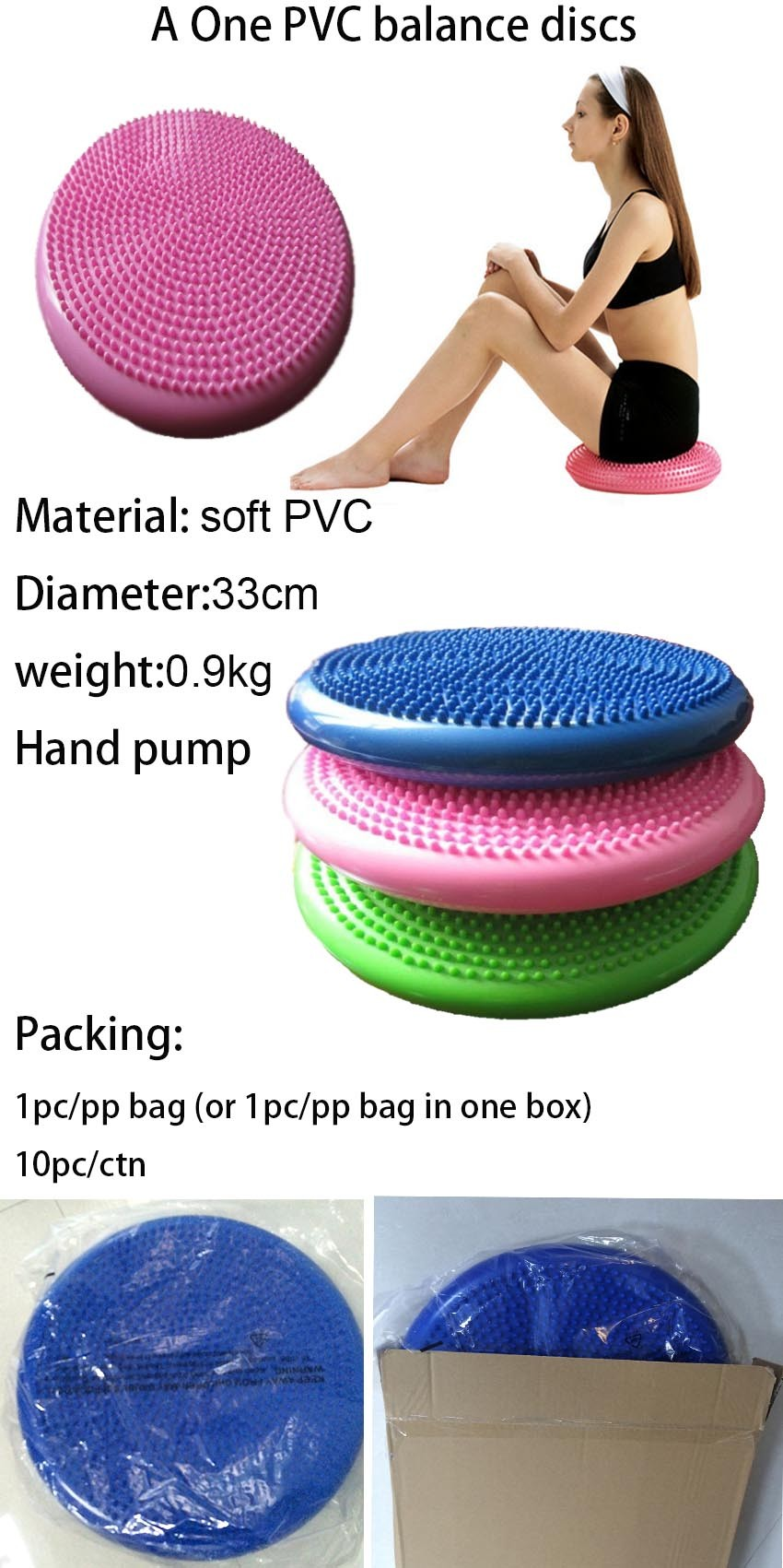 hand pump Massage Balance Disc