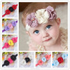 Wholesale Chiffon Elastic Three Flower Baby Hair Headband Jewelry for Kids BTS015