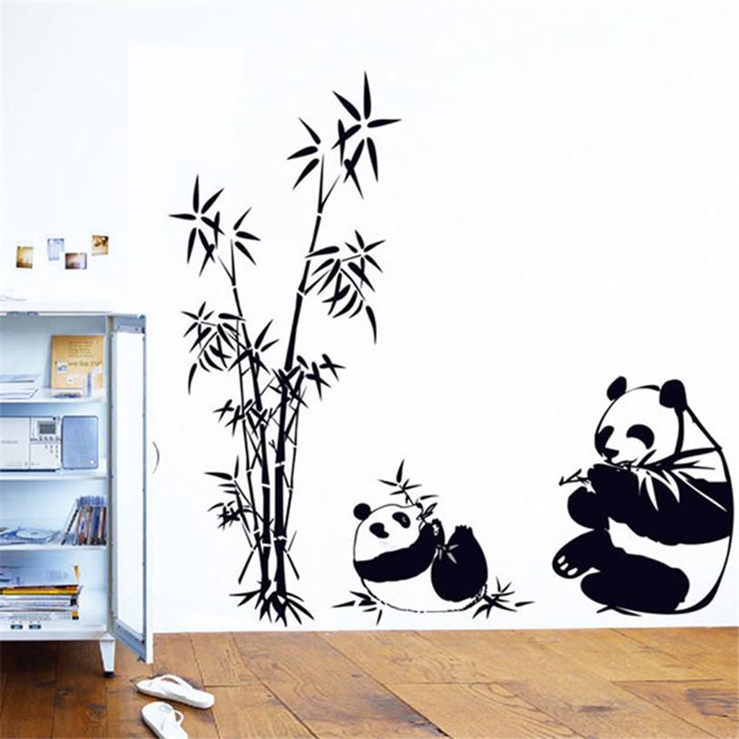 New Nature DIY Wall Sticker Bamboo Panda Wall Decal Sticker Wall Art Home Decor wall stickers home decor wall decal poster