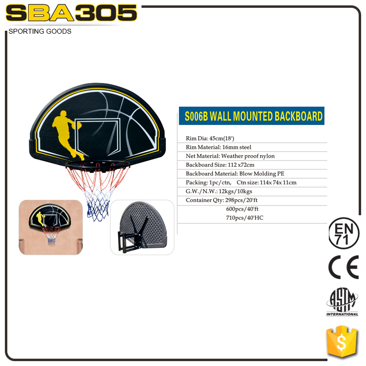 Durable size kids basketball hoop