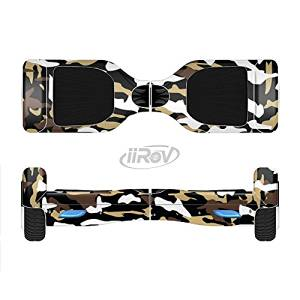 The Green-Tan & White Traditional Camouflage Full-Body Wrap Skin Kit for the iiRov HoverBoards and other Scooter (HOVERBOARD NOT INCLUDED)