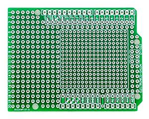 Electronics-Salon 1PCS Prototype PCB for Arduino UNO R3 Shield Board DIY, Combo 2mm+2.54mm Pitch.