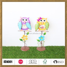 handicraft metal owl wall home decoration