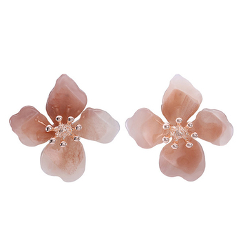 Fashion Spring Color Statement Acrylic Flower Earring Handmade Laser Cut  Resin Floral Earrings - Buy Flower Earring,Plastic Flower Earring,Big