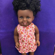 High quality best selling beautiful long real hair vinyl black doll 18 inch dress american girl doll clothes