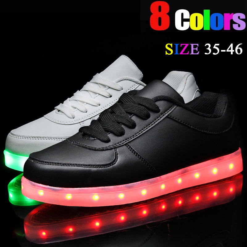 8 Colors Zapatillas Led Shoes India For Women Light Shoes Led ... bfee1eee8814