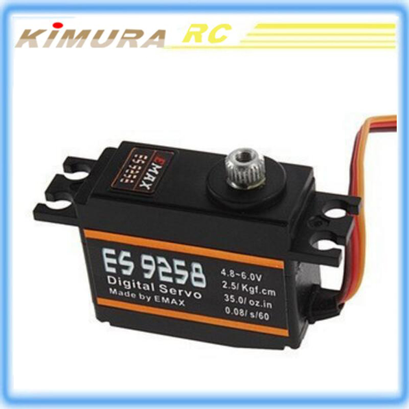 EMAX ES9258 Metal Gear Digital Rotor Tail Servo 27g/ 3kg/ .08 sec For RC Trex 450 Helicopters Helis