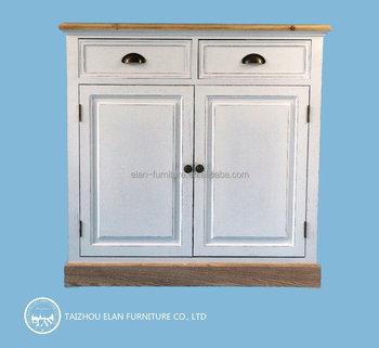 Perabotan Kayu Solid Bufet Penyimpanan Kabinet Dapur Design Dengan 2 Laci Dan Pintu