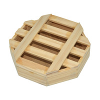 Plain malaysia unfinished cheap round wooden box for factory price