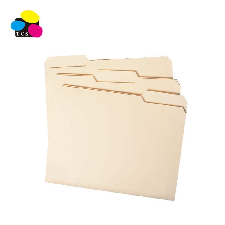 3Tab Manila Folder Buff, Cartella di File di carta 11pt