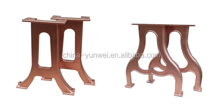 antique industrial vintage cast wrought iron table legs for sale