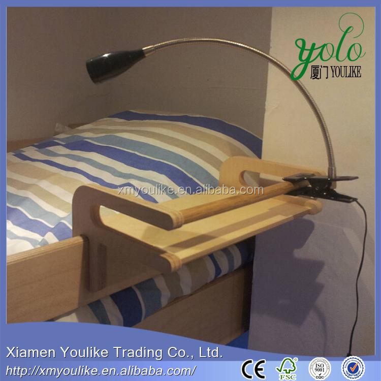 Bamboe nachtkastje plank clip op bed voor tafellamp opslag houders en rekken product id - Nachtkastje voor loftbed ...