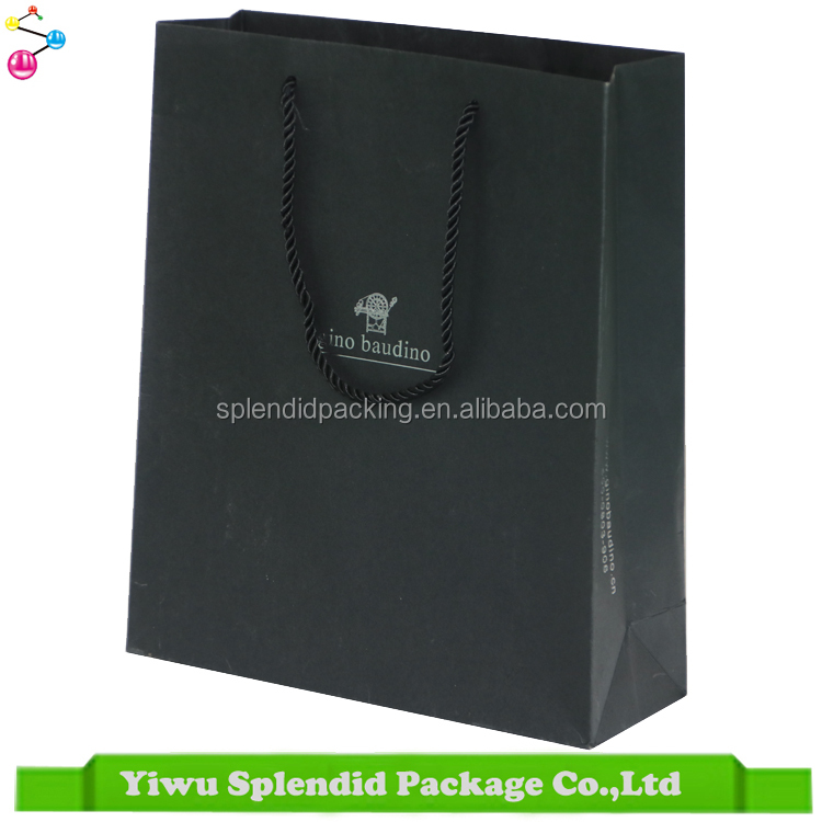 Low Cost Custom Logo Printing Colorful 250gsm Blackcard Personalized Paper Bag