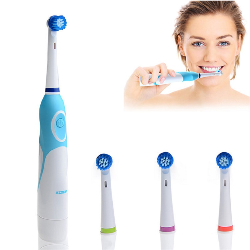 Fashion 2016 Battery Operated Electric Toothbrush with 4 Brush Heads Oral Hygiene Health Products No Rechargeable