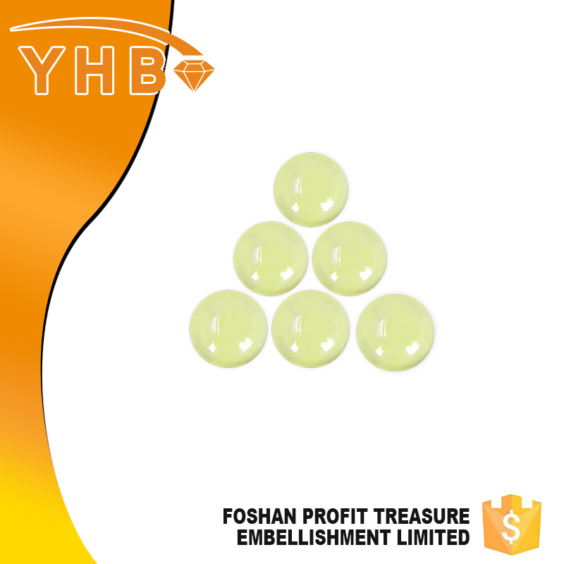 YHB quality guarantee beautiful beaded Yellow ceramic free hotfix crystal patterns for shoes