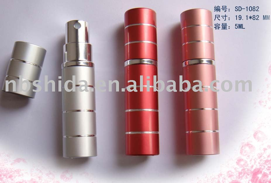 aluminum stripe perfume bottle with 5ML