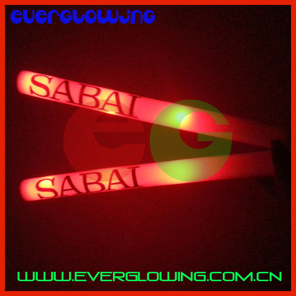 Christmas concert party and holiday occasion and noise maker event&party item type led favour glow stick with logo