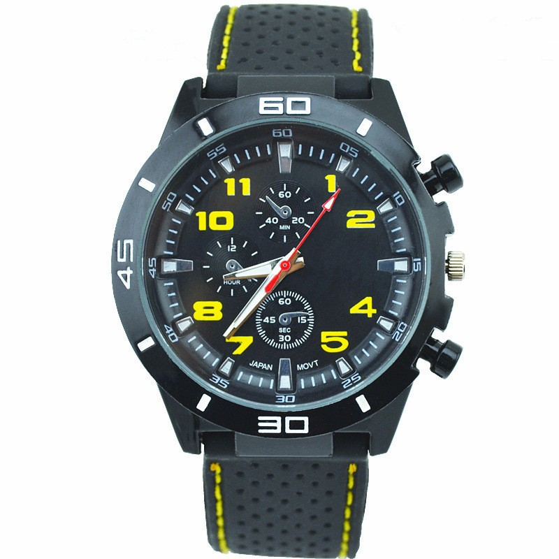 Hot sell silicone watches Men Fashion GT Men luxury cars quartz watch multicolor optional watches