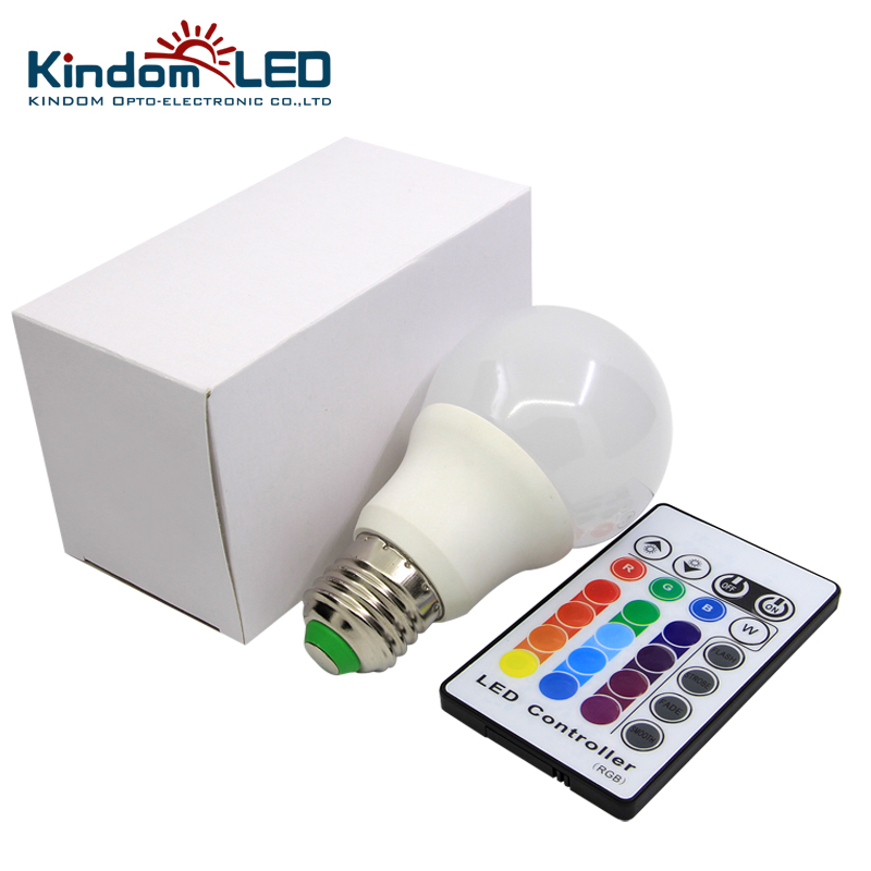 Guangzhou Wholesale 5W LED RGB RGBW Lighting Bulb Color Changing with IR Remote Controller Smart light Lamp