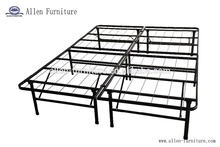 platform metal folding bed frame/base, mattress foundation, foldable, from twin to cal king