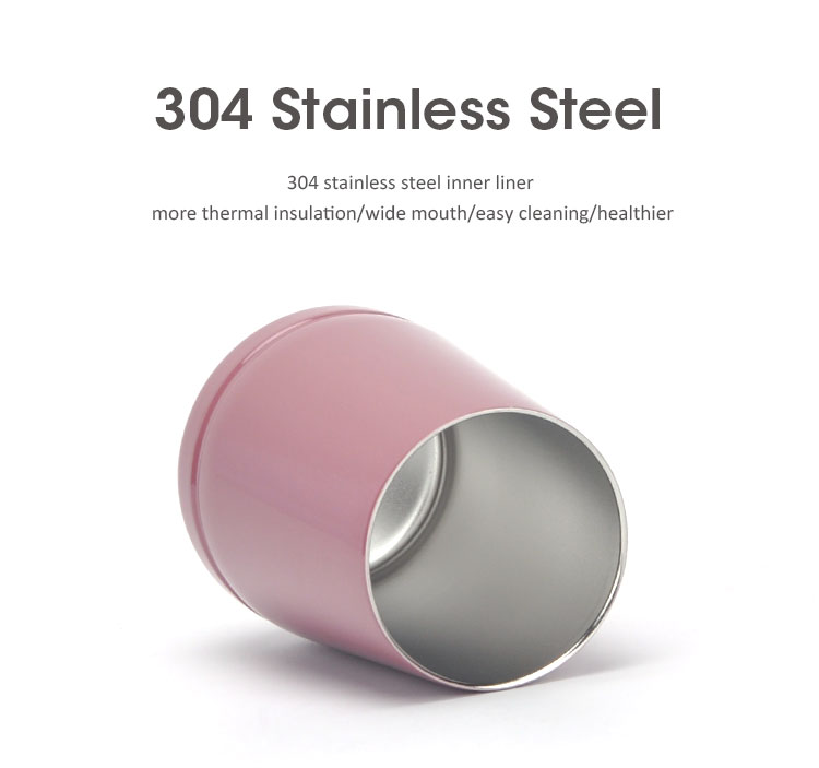 12 oz  double wall stainless steel insulated wine tumbler cup