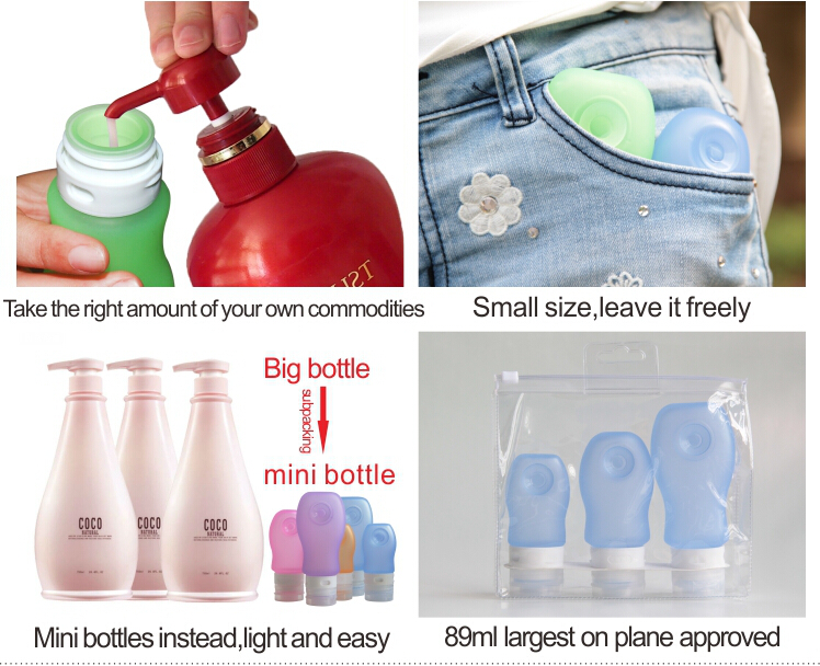free sample 2016 Latest design squeeze leak-proof bpa free silicone empty spice bottles