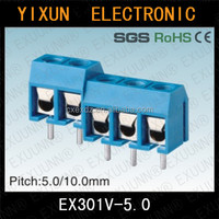 EX301V pitch 5.0mm pcb terminal block
