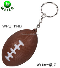PU foam anti stress ball/4.2*6.9cml/soft toy style/promotional gifts American football keychain