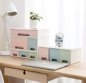 Drawer - type multi - storey cosmetics desktop skin care products finishing boxes desks plastic storage cabinets