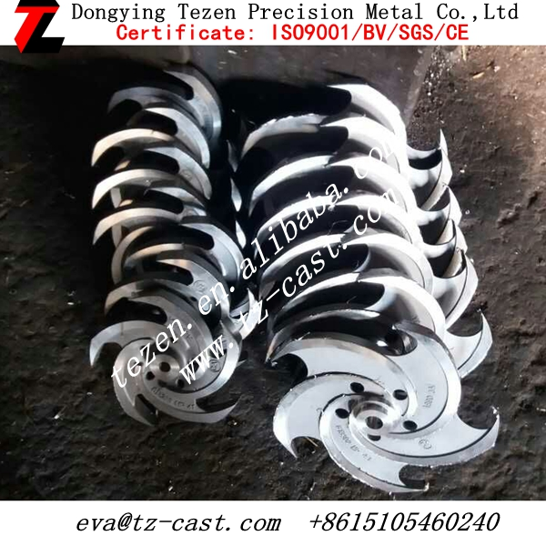 stainless steel impeller part by lost wax casting 316/304 Tezen-2771