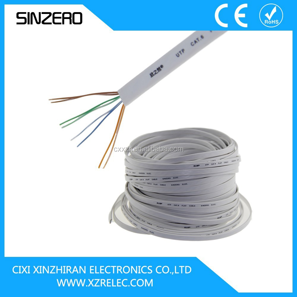 300m cat5 utp network cable/flat cat6 lan cable XZRC027/lan cable roll