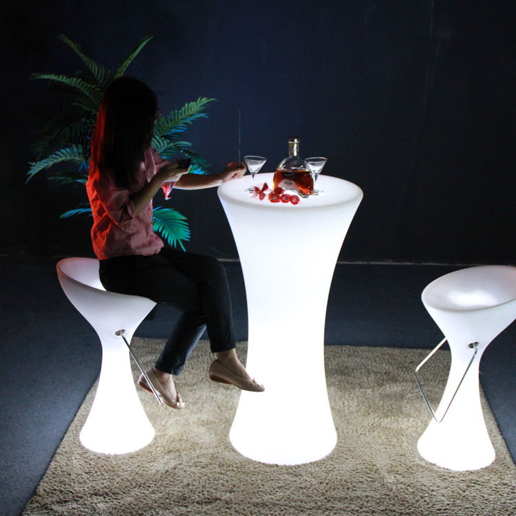 modern portable bar stool with lighted color changeable for events