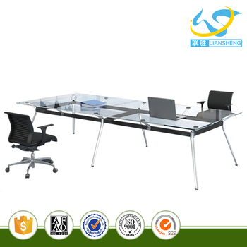 High End Glass Top Center Table Tempered Glass Conference Table For - Glass top conference room table