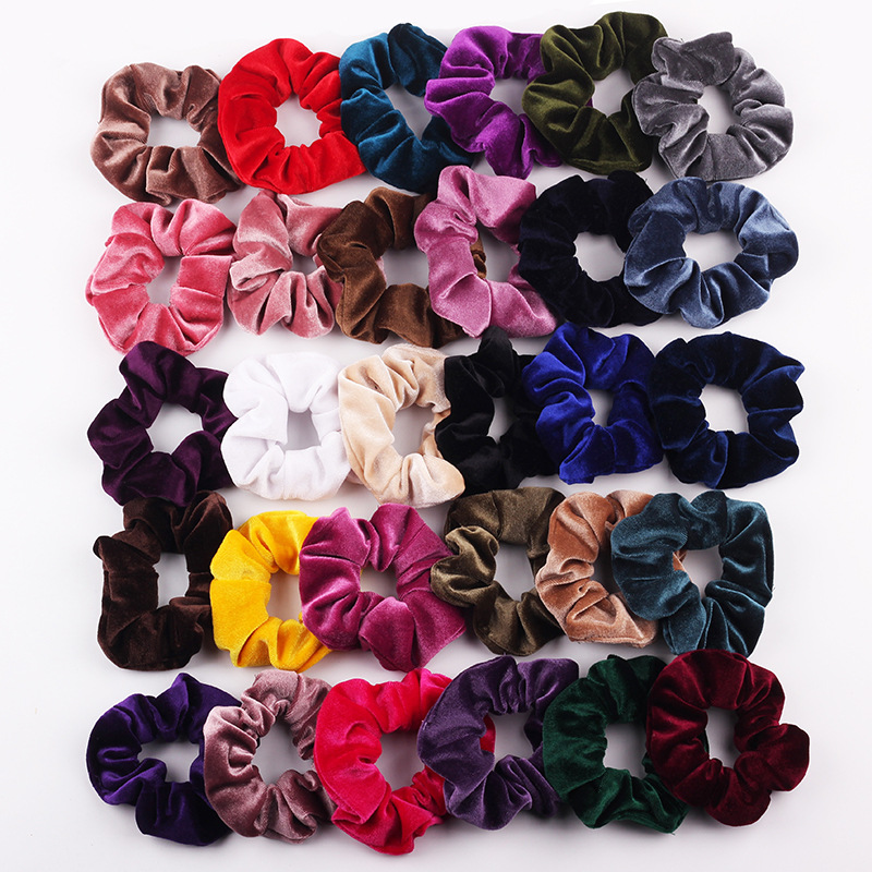 Promotion Gift LOW MOQ Women Girls Solid Color Colorful Cheap Phone Cord Hair Tie Hair Rings