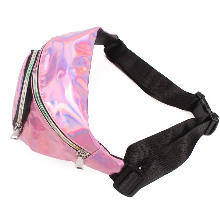 Creative Hologram Waist Bag Outdoor Fanny Pack PU Bum Bag for Raves