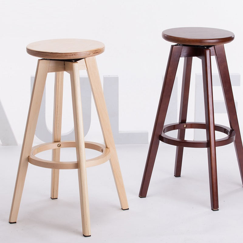 Ecdaily Live Wood Bar Stool Bar Chairs Minimalist Chairs