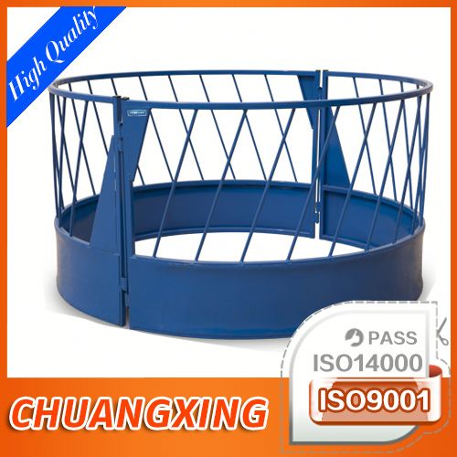durable powder coated round bale feeder