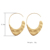 New Fashion 망치로 보석 합금 Geometric Hoop Earrings 대 한 Women