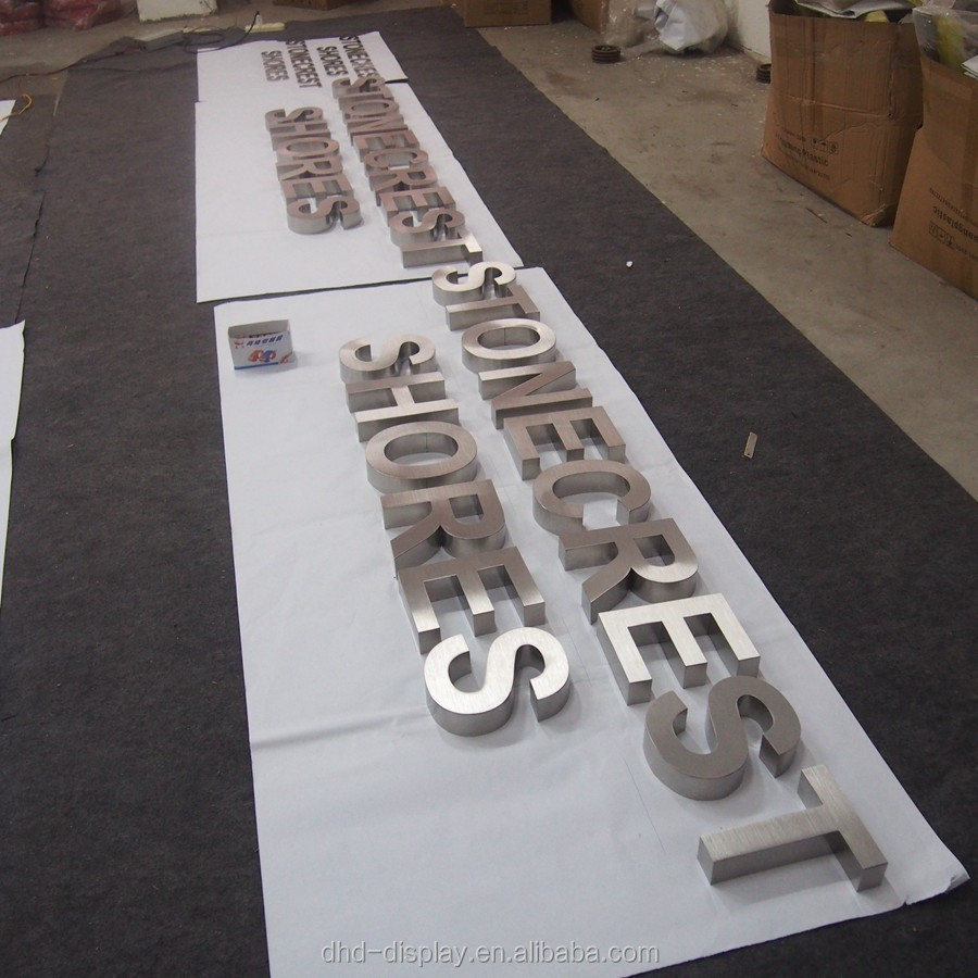 Brand new metal facade lighting exposed luminous led letter signage made in China