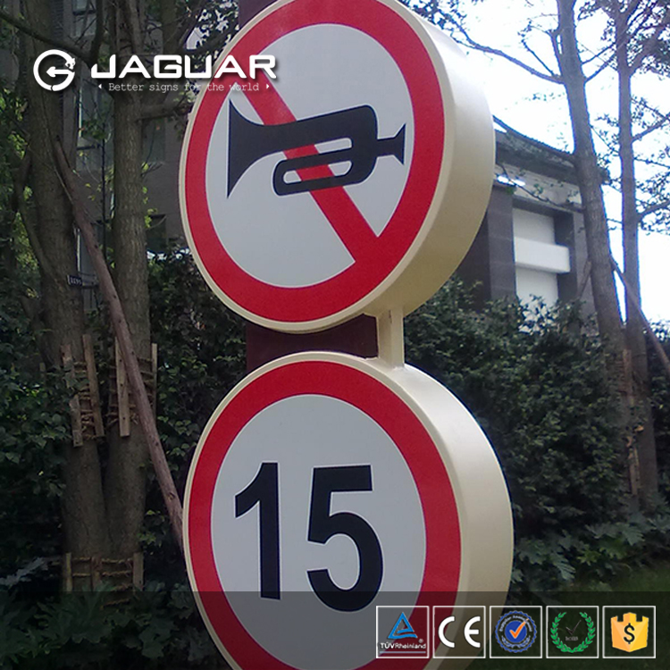 China supplier diy reflective material traffic sign road safety warning sign board