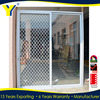 High quality double glazed sliding doors with aluminium security mesh_commercial double glass doors