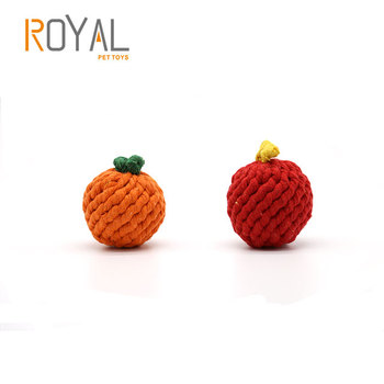 New Dog Toys 2019 Pet Accessories Chew Teething fruit shaped dog rope toy