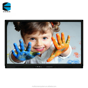 EKAA 75 inch interactive whiteboard digital pen with LCD screen from china