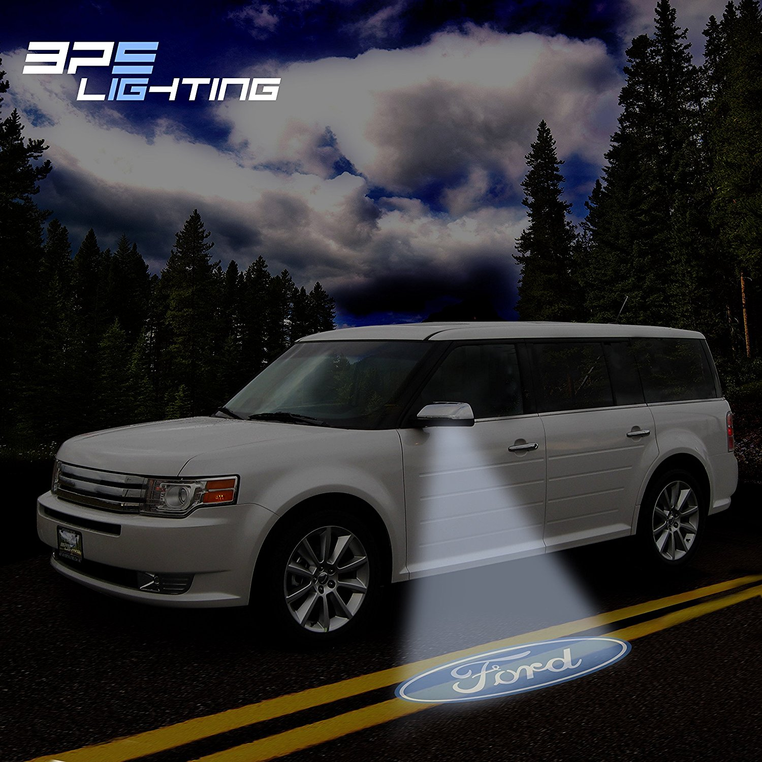 Get quotations · bps lighting ford side mirror projector led with logo edge expedition explorer flex fusion
