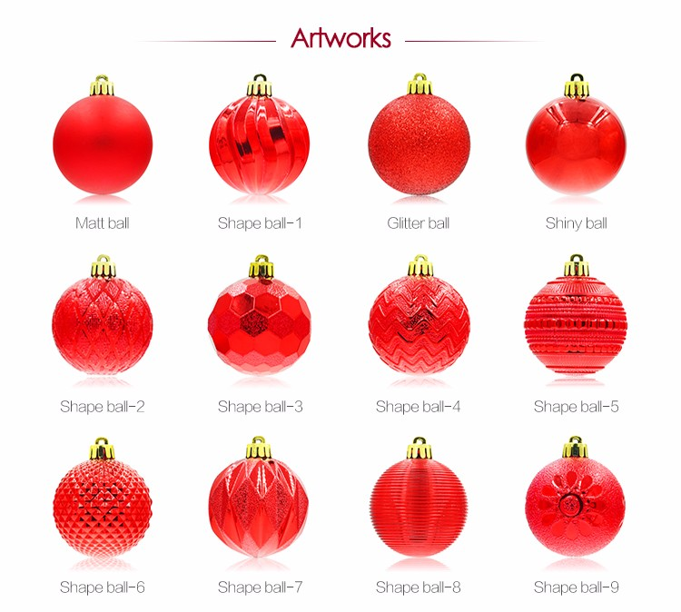 Colored Shatterproof Tree Hang Balls Decor Wholesale Clear Plastic Decorations Ornaments Christmas Ball